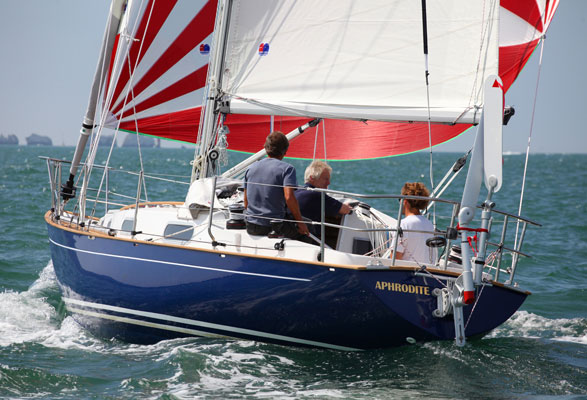 Contessa 32 on port tack