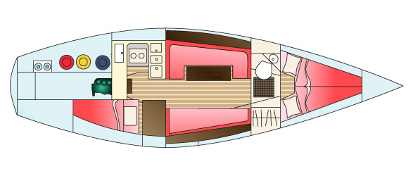 Contessa 32 Internal Specifications | About Contessa Yachts | Jeremy Rogers Limited
